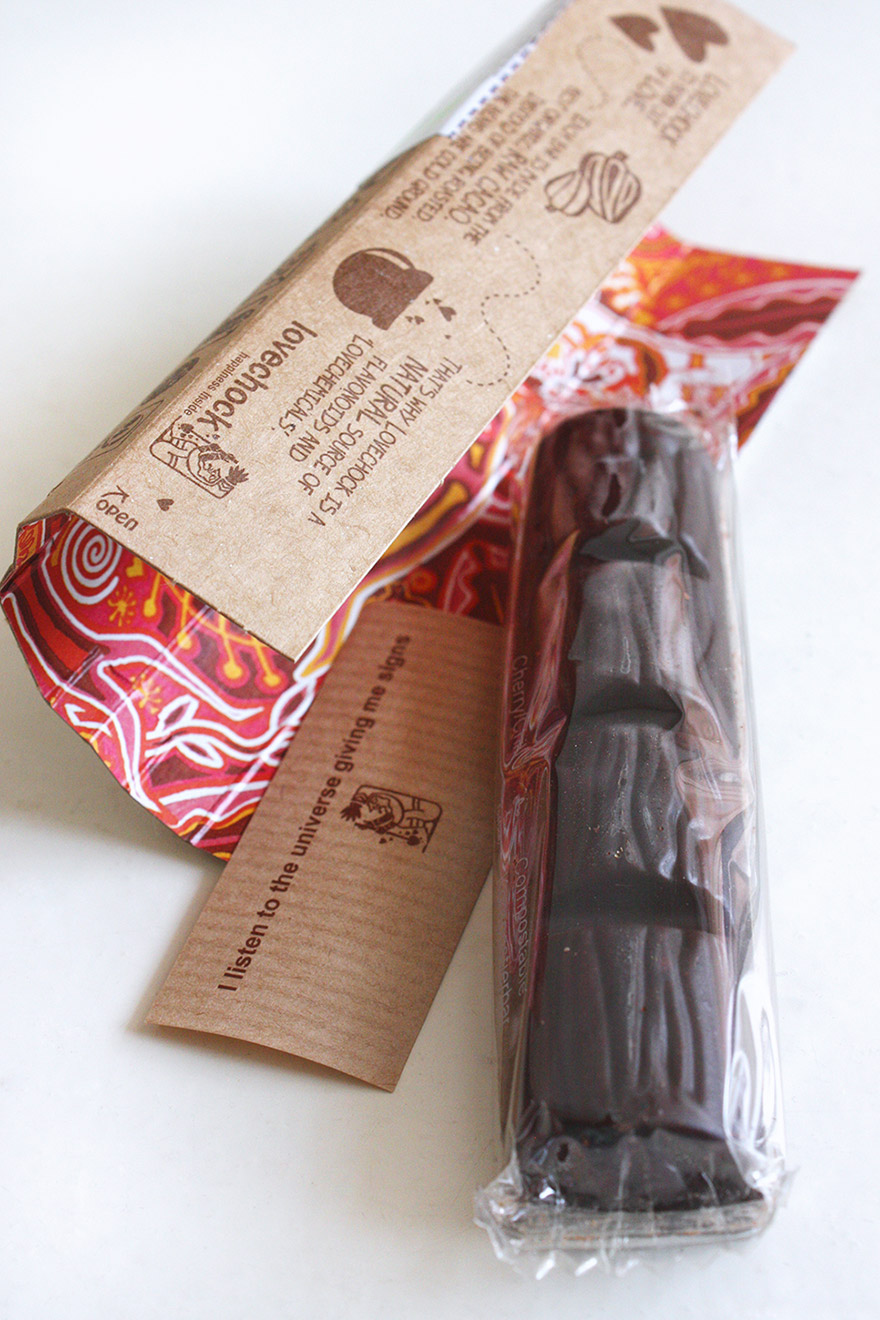 Lovechock cherry and chili packaging