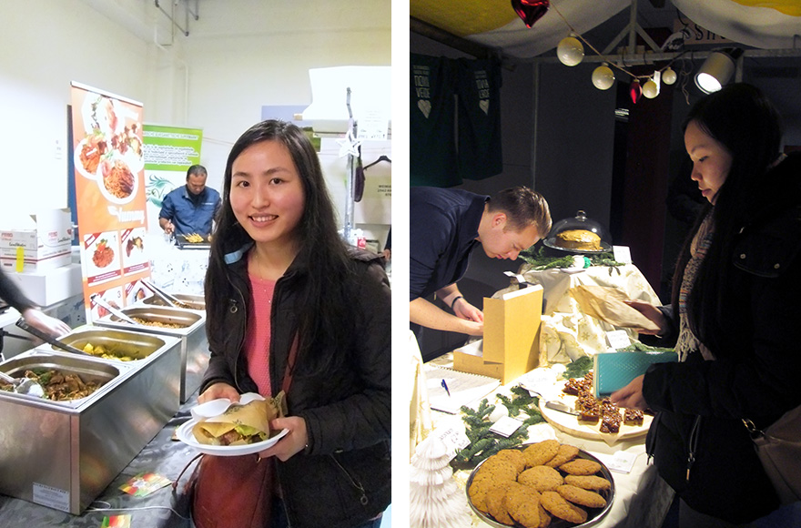 Vegan Christmas Market 2015 roti wrap and vegan cookie