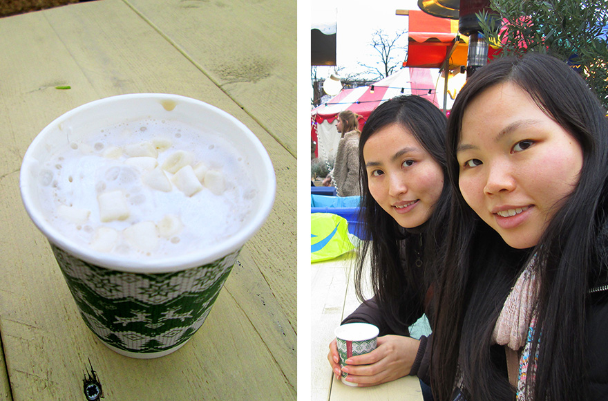 Vegan Christmas Market 2015 chai latte with vegan marshmallows