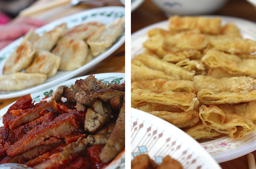 vegan chinese new year seitan and fried beancurd