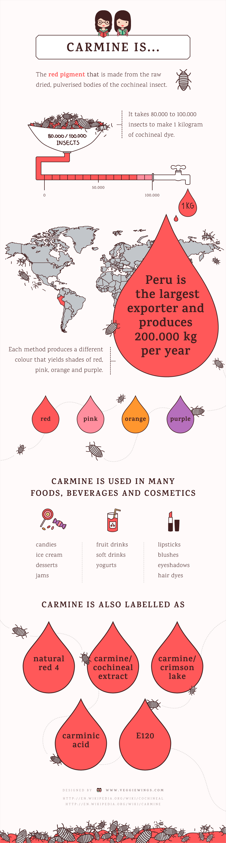 infographic carmine cochineal