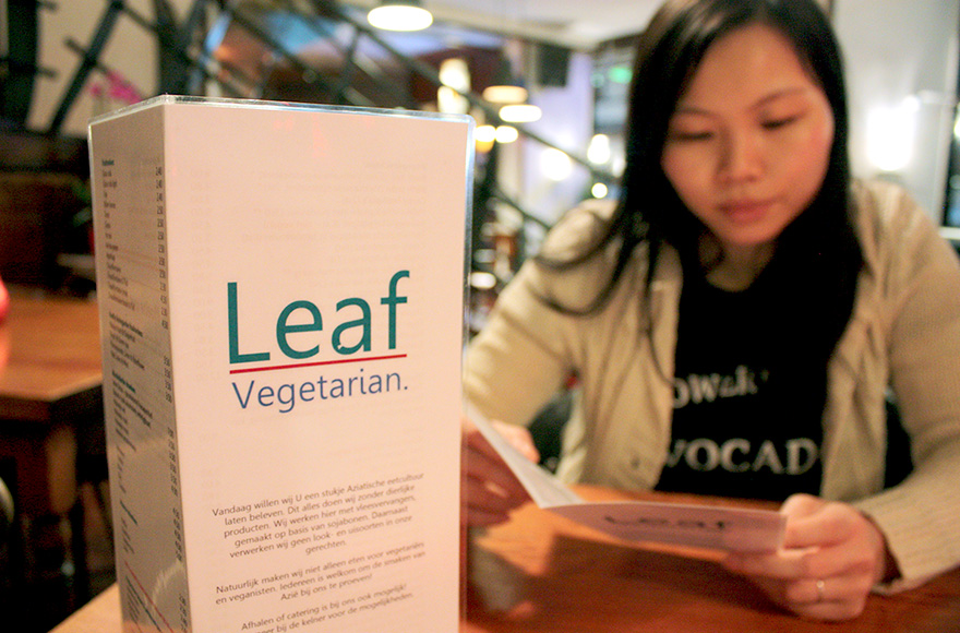 leaf vegetarian menu