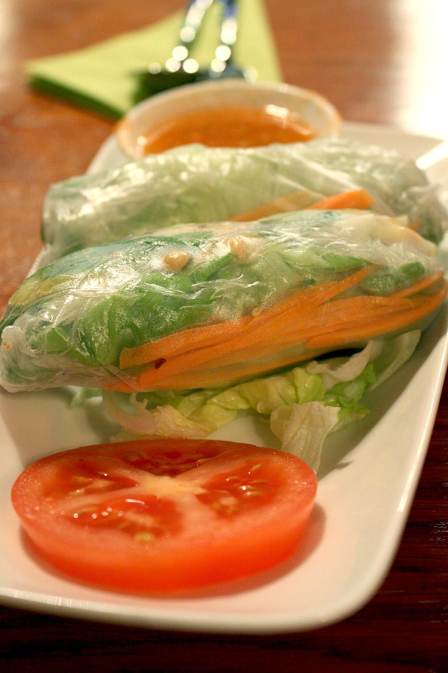 leaf vegetarian vegan vietnamese spring rolls