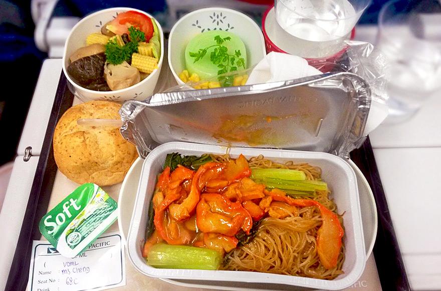 vegan and vegetarian inflight meals cathay pacific VOML