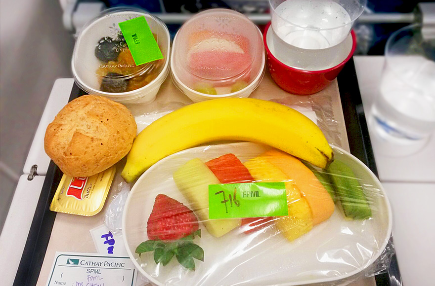 vegan and vegetarian inflight meals cathay pacific FPML