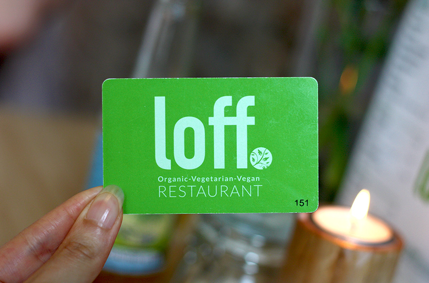loff breda vegan buffet restaurant card