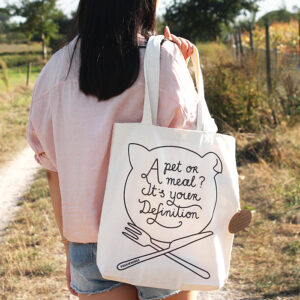 veggiewings a pet or a meal? it's you definition tote bag
