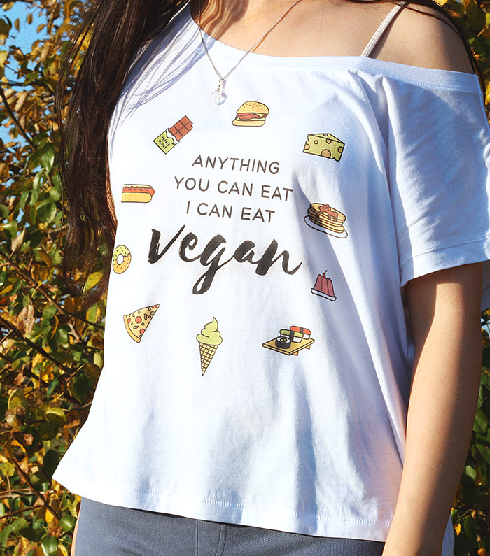 veggie wings anything you can eat, I can eat vegan oversized t-shirt